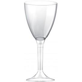 Flûte Plastique Vin Pied Transparent 180ml (20 Unités)