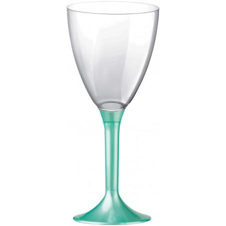 Flûte Plastique Vin Pied Tiffany Perlé 180ml (200 Unités)