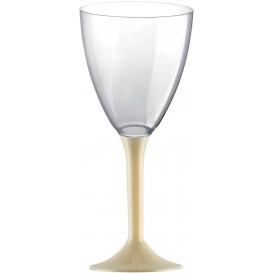 Flûte Plastique Vin Pied Crème 180ml 2P (200 Utés)