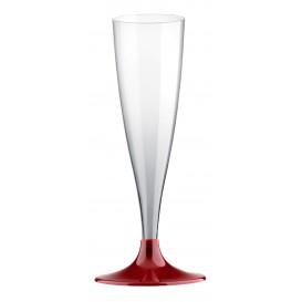 Flûte Champagne Plastique Bordeaux 140ml (20 Unités)