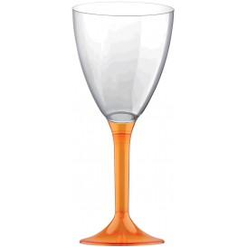 Flûte Plastique Vin Pied Orange Transp. 180ml 2P (200 Utés)