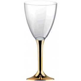 Flûte en Plastique Vin Or Chrome 180ml (200 Unités)