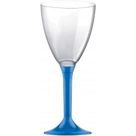Flûte en Plastique Vin Bleu Transp. 180ml (20 Unités)