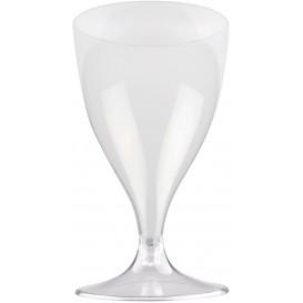 Flûte Plastique Vin Pied Transparent 200ml 2P (20 Utés)