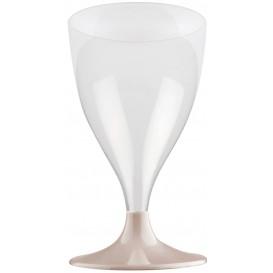 Flûte Plastique Vin Pied Beige 200ml 2P (400 Utés)