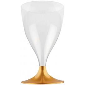 Flûte en Plastique Vin Pied Or 200ml (20 Unités)