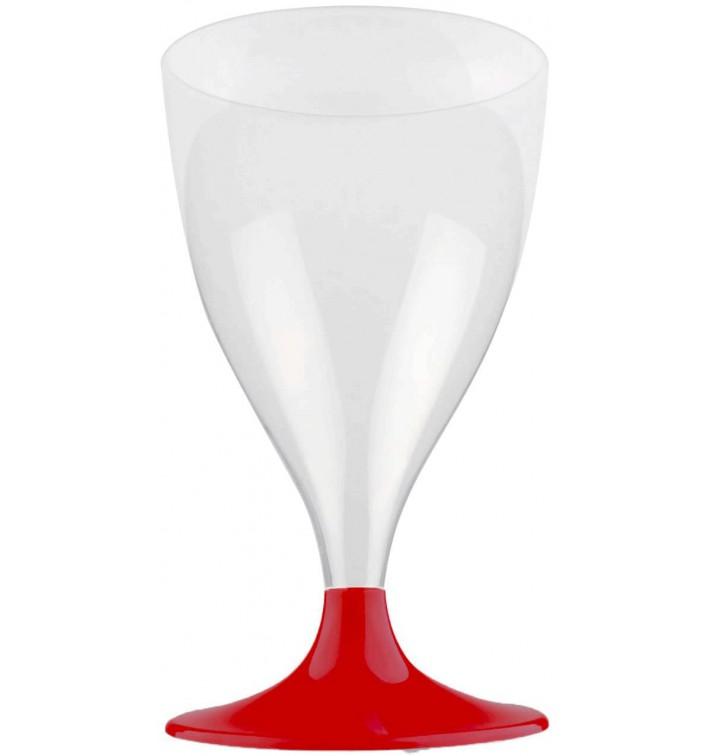 Flûte Plastique Vin Pied Bordeaux 200ml 2P (400 Utés)