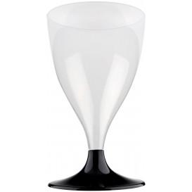 Flûte Plastique Vin Pied Noir 200ml 2P (20 Utés)