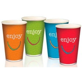 "Gobelet Carton 22Oz/680ml ""Enjoy"" Ø9cm (1.000 Utés)"