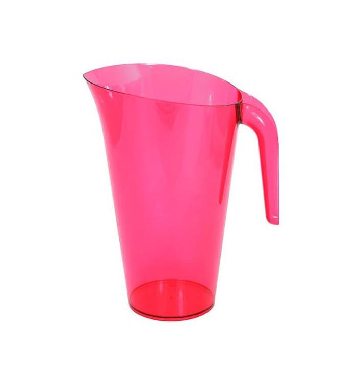 Carafe Plastique Framboise Réutilisable 1.500 ml (20 Unités)