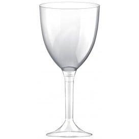 Flûte en Plastique Vin Pied Transparent 300ml (20 Unités)