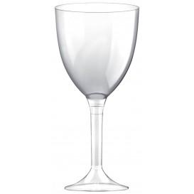 Flûte en Plastique Vin Pied Transparent 300ml (200 Unités)