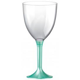 Flûte en Plastique Vin Pied Tiffany Perlé 300ml (20 Unités)