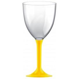 Flûte en Plastique Vin Pied Jaune 300ml 2P (200 Utés)