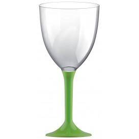 Flûte en Plastique Vin Pied Vert citron 300ml 2P (200 Utés)