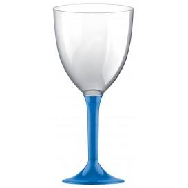 Flûte en Plastique Vin Bleu Transp. 300ml (20 Unités)