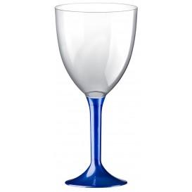 Flûte en Plastique Vin Bleu Perlé 300ml (20 Unités)