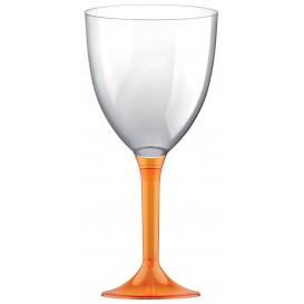 Flûte en Plastique Vin Orange Transp. 300ml (20 Unités)