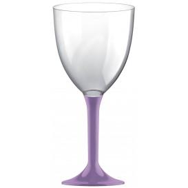 Flûte en Plastique Vin Pied Lilas 300ml (20 Unités)