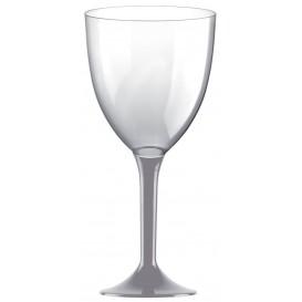 Flûte en Plastique Vin Pied Gris 300ml 2P (20 Utés)