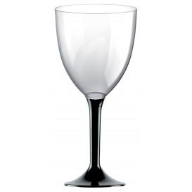 Flûte en Plastique Vin Pied Noir 300ml (20 Utés)