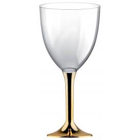 Flûte en Plastique Vin Or Chrome 300ml (200 Unités)