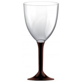 Flûte en Plastique Vin Pied Marron 300ml 2P (20 Utés)