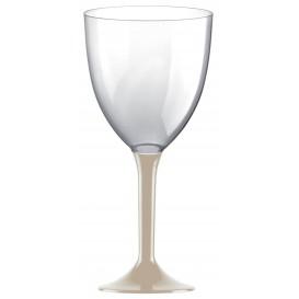 Flûte en Plastique Vin Pied Beige 300ml 2P (20 Utés)