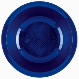 Assiette Plastique Creuse Bleu Round PP Ø195mm (50 Utés)