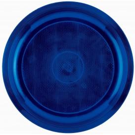 Assiette Plastique Réutilisable Bleu PP Ø290mm (300 Utés)