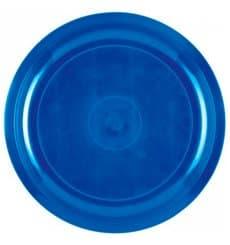 Assiette Plastique Bleu Mediterranée Round PP Ø290mm (25 Utés)