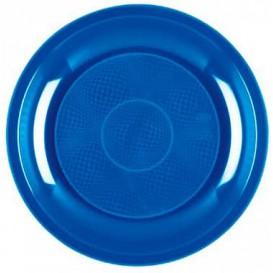 Assiette Plastique Plate Bleu Mediterranée Round PP Ø220mm (50 Utés)