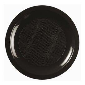 Assiette Plastique Plate Noir Round PP Ø185mm (600 Utés)