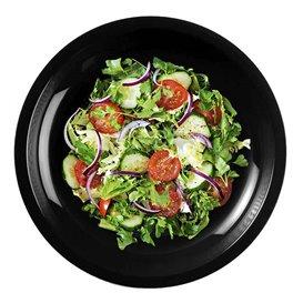 Assiette Plastique Plate Noir Round PP Ø220mm (50 Utés)