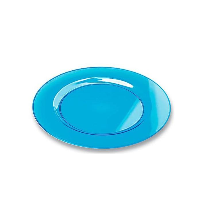 Assiette Plastique Extra Dur Turquoise 19cm (120 Unités)