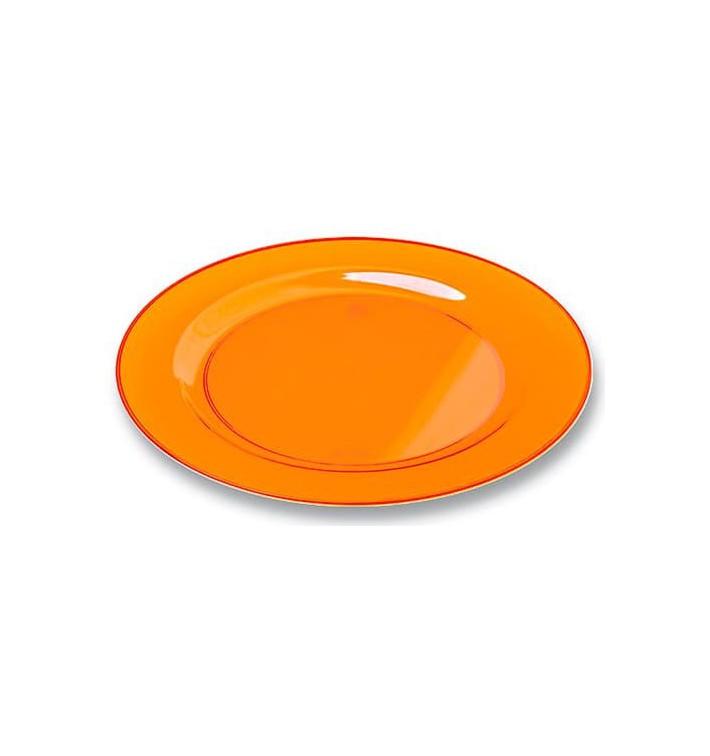 Assiette Plastique Extra Dur Orange 26cm (6 Unités)