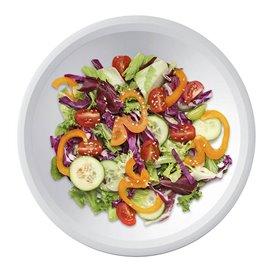 Assiette en Plastique Fond Blanc Ø195mm (50 Utés)