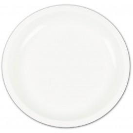 Assiette en Plastique Blanc Ø235mm (50 Utés)