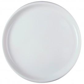 Assiette Plastique Réutilisable Pizza Blanc PP Ø350mm (144 Utés)