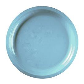 Assiette Plastique Turquoise Round PP Ø290mm (300 Utés)