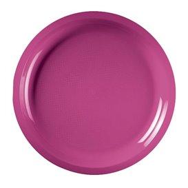 Assiette Plastique Réutilisable Fuchsia PP Ø290mm (25 Utés)