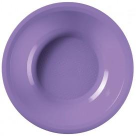 Assiette Plastique Creuse Lilas Round PP Ø195mm (50 Utés)