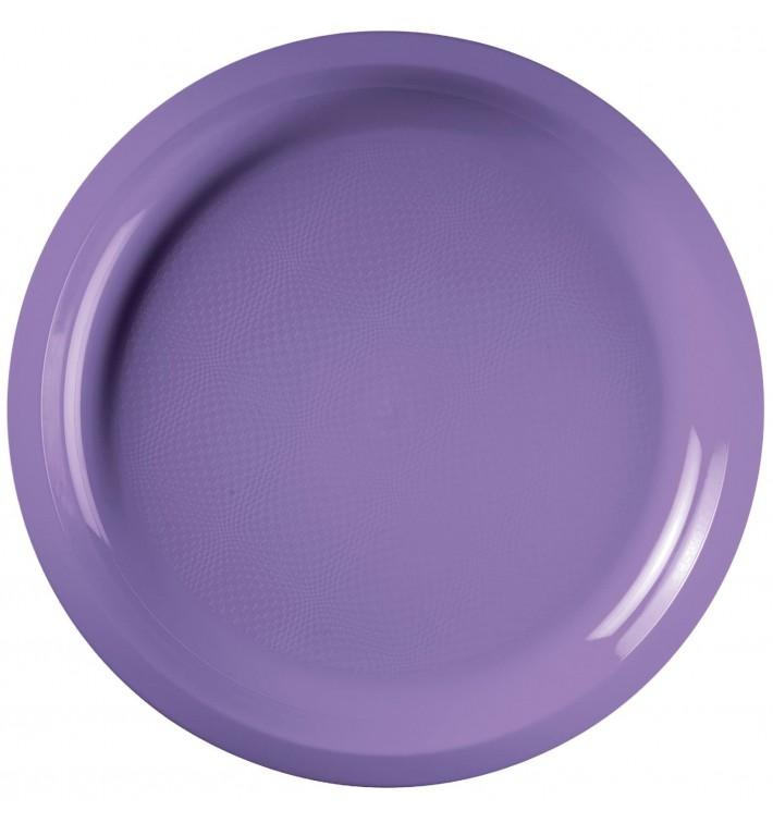 Assiette en Plastique Lilas Round PP Ø290mm (25 Utés)