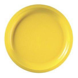 Assiette Plastique Réutilisable Jaune PP Ø290mm (300 Utés)
