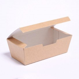 Boîte à Emporter Kraft 16,5x7,5x6cm (25 Unités)