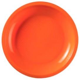 Assiette Plastique Réutilisable Plate Orange PP Ø220mm (50 Utés)