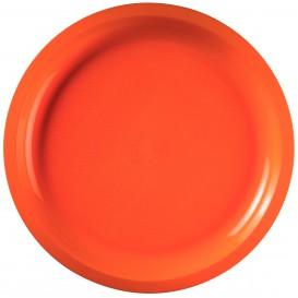 Assiette Plastique Réutilisable Orange PP Ø290mm (300 Utés)