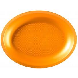 Plateau Plastique Ovale Or Round PP 255x190mm (125 Utés)