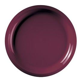Assiette en Plastique Bordeaux Ø290mm (25 Utés)