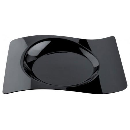 """Assiette plastique """"Forma"""" Noir 22x18 cm (12 Utés)"""